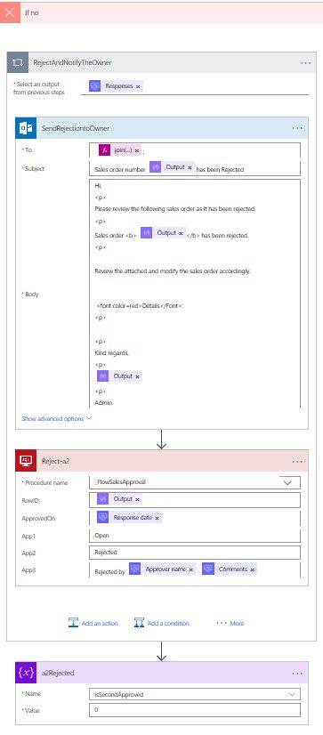 Microsoft Flow approval process
